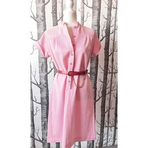 //VINTAGE// 1970s Candy Striper Dress